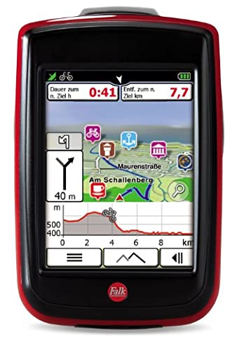 Fahrradnavigationsgerät Falk IBEX 25 Europe Touring, 3,5 Zoll Touchscreen, Basiskarte