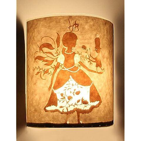 GOUD Lámpara de pared aplique de la pared 1 estilo de dibujos animados luz pantalla de patrón de la princesa de