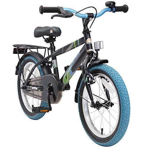 BIKESTAR Vélo Enfant pour Garcons et Filles de 4-5 Ans ★ Bicyclette Enfant 16 Pouces Moderne avec Freins ★ Noir & Blanc