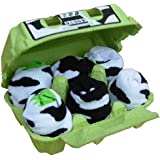Soggs 160116 - 6 paar Socken in Eierkarton, Cow Edition mit Kuhflecken