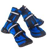 Aimire Hunde-Stiefel, wasserdicht, Winter-Schuhe Pfotenschutz für Wandern, Reisen