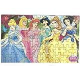 Happy GiftMart Fun Disney Princess 60 Pieces Wooden Jigsaw Puzzle Multicolor Cartoon Puzzle For Kids 22.5 Cm X 13.8 Cm
