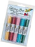 Folia 57802 - Glitter Set mit 5 Röhrchen à 14 Gramm Glitterpulver