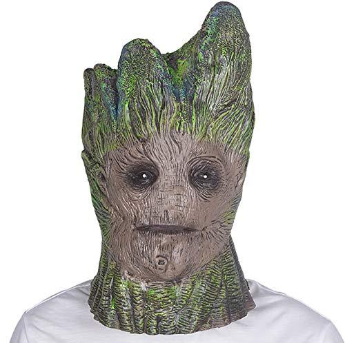 hcoser Groot Tree Maske Cosplay Bronze Latex Helm Spielzeug Halloween Kostüm ()