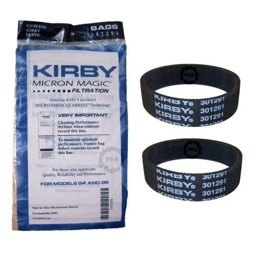 Original Kirby MICRON MAGIC Filter 3er pack + 2 Riemen für G3 G4 G5 G6 G7 G8 G10 Sentria (197294/301291) -