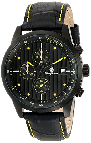 Burgmeister Armbanduhr für Herren mit Analog-Anzeige, Quarz-Uhr und Lederarmband - Wasserdichte Herrenuhr mit zeitlosem, schickem Design - klassische Uhr für Männer - BM607-620A Maui