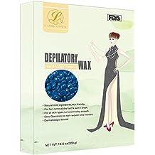 Cera Depilatoria 300g,BeautyPO Natural Perlas de Cera sin Irritación Cera Caliente para Hombres Mujer Full-Body Depilación (Manzanilla)