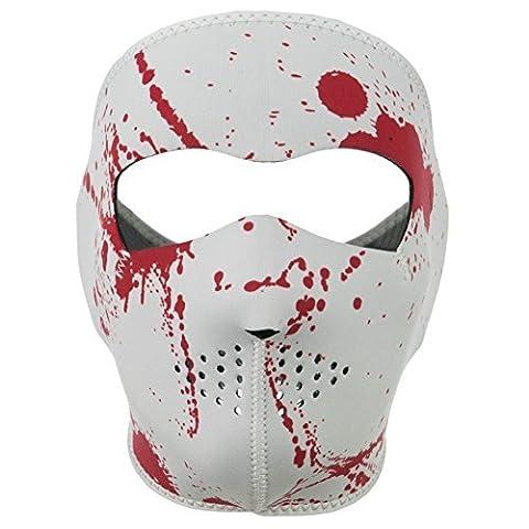 ZAN Headgear Full Face BLOOD SPATTER Neoprene Protective Facemask by Zanheadgear