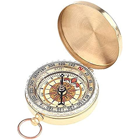 TITECOUGO Hiking Waterproof Portable Pocket Style Flip-Open Military Compass Glow in the Dark Camping Survival Gear Compass Outdoor Navigation Tools