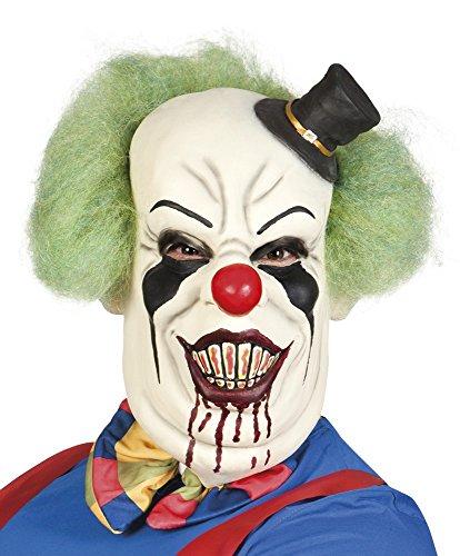 (Boland Horror Clown Maske mit Hut und Haaren)