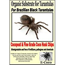 ORGANIC SUBSTRATE SOIL BEDDING FOR BRAZILIAN BLACK TARANTULAS (GRAMMOSTOLA PULCHRA) FOR SPIDER TANK, ENCLOSURE, VIVARIUM, TARANTULA VIVARIA - NATURAL ALTERNATIVE TO VERMICULITE, PEAT, WOOD SHAVINGS AND BARK CHIP - READY TO USE (2.5 LITRES)