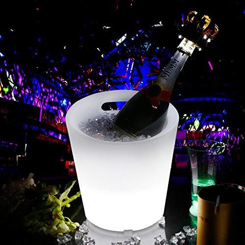 er, Bar Ice Bucket Led Glow Wasserdicht Drop-Proof Bunte Hotel Hand, Outdoor Ice Cooler Weinkühler Eimer, Weinflaschenkühler Eimer |Isolierter Champagne Beer Ice Bucket ()