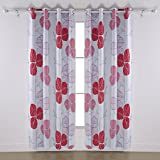 Best Eclipse Curtains Home Grommets - Deconovo Grommet Top Curtains Decorative Leaf Printed Thermal Review