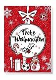 Adventskalender, Weihnachtskalender deines Bundesliga Lieblingsvereins - und Sticker Wir Leben Fußball Fairtrade (Fortuna Düsseldorf)