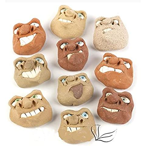 Give ' EM A Grumpy: hecho A mano piedra de cara de terapia indisponibilidad forzada (one de cara de