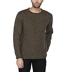 Indian Terrain Mens Crew Neck Slub Pullover (jumper Fit)