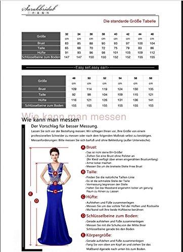 Sarahbridal Damen Tüll Bandeau Abendkleider Asymmetrisch Ballkleid Kurz Cocktailkleid Abschlusskleider SAJ014 Königsblau