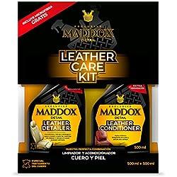 Maddox Detail 30401 Leather Care Kit-Limpiador y acondicionador de Cuero y Piel. Incluye Microfibra Gratis