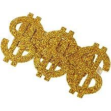 MagiDeal Anillo de Golpeador con Dólar 3 en 1 de Oro con Tres Dedos Brillo de Estilo Retro Hombre Anellone
