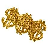 MagiDeal Anillo de Golpeador con Dólar 3 en 1 de Oro con Tres Dedos Brillo de Estilo Retro Hombre...