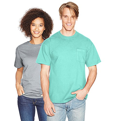 Hanes Men's Beefy-T T-Shirt With Pocket Clean Mint