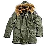 Alpha Industries Polar Jacket, Größe:L;Farbe:dark green