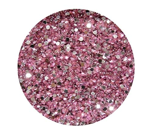Strass Rond, rose, 2 mm, env. 100 pièces