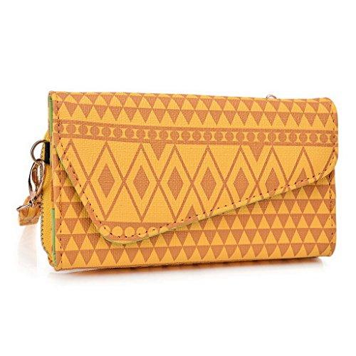 Kroo Pochette/étui style tribal urbain pour Allview Impera M/A6Quad Multicolore - Rose Multicolore - jaune