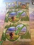 Disney Kinder-Bettwäsche Pixar Arlo&Spot Bezug 100x135cm Kissen 40x60cm 100% Baumwolle