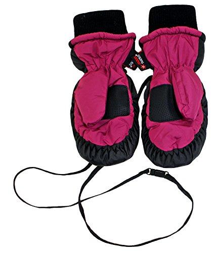 Maximo Thermohandschuhe Fausthandschuhe Kinderhandschuhe Jungen Mädchen Stretchbündchen Wasserdicht (MX-28300-813100-W16-BU0-4632-3) in Brombeere, Größe 3 inkl. EveryKid-Fashionguide (Lockere Passform Band)