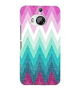 EPICCASE triangle case Mobile Back Case Cover For HTC One M9 Plus (Designer Case)