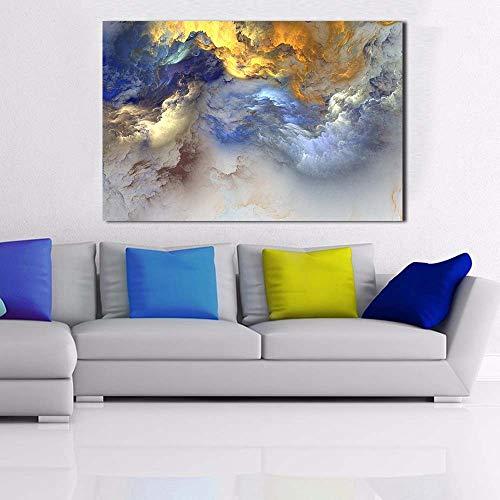 YuanMinglu Arte Astratta Tela Arte murale Pittura Happy House Paesaggio Arte Pittura Pittura Astratta Pittura Senza Cornice