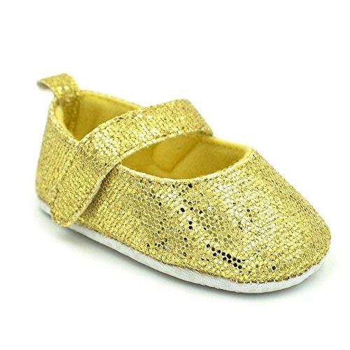Crianças Recém Antiderrapantes Lantejoulas Sapatos Bebé Amarelas De Par nascidos Bonito Macios 1 Igemy TFPWaOqXF