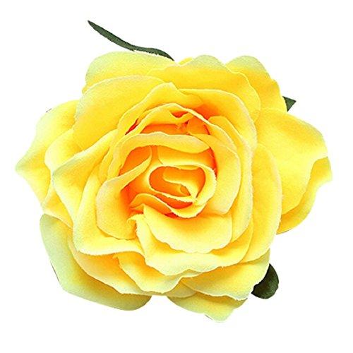 Hochzeit Brautschmuck Sweet Big Rose Blossom Blume Haar Clip Damen Haarspange Brosche Pin