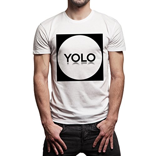 SWAG YOLO Sign Know How Oval Background Herren T-Shirt Weiß