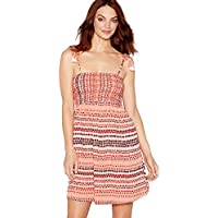 5a86fcb4de Mantaray Womens Multi-Coloured Spot Print Square Neck Mini Beach Dress