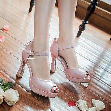 LvYuan Damen-Sandalen-Kleid Lässig Party & Festivität-PU-Blockabsatz-Andere-Blau Rosa Weiß White
