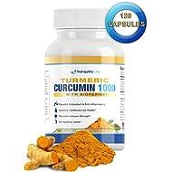 Turmeric Curcumin 1000mg 95% w BioPerine Black Pepper - Premium Formula, Max Absorption - Relieves Joint Pain, Anti Inflammatory, Cardiovascular, Digestive, Immune Health, 120 capsules, 2-month supply