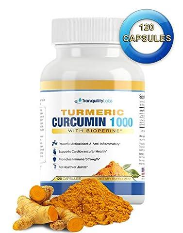 Turmeric Curcumin 1000mg 95% w BioPerine® Black Pepper - Premium