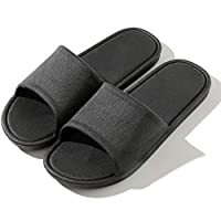 Women Men Bath Slipper Anti-Slip Indoor Home House Sandal Outdoor Beach Shoes Black