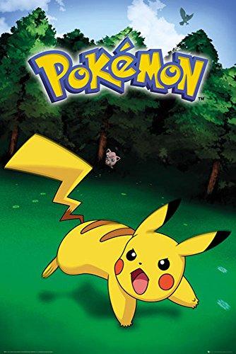 empireposter 745255 Pokemon - Pokémon - Pikachu Catch - Videospiel Anime Poster, Papier, Bunt, 91.5 x 61 x 0.14 cm
