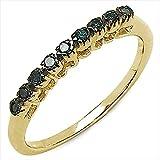 Goldancé - Bague femme - plaqués or en argent sterling 925/1000 - pierres précieuses: Blue Diamond env. 0.09ct. - R2615BLD_SGP