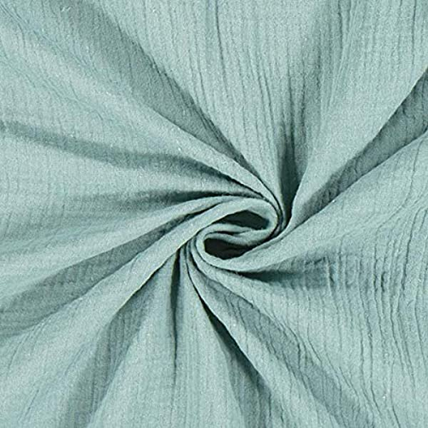 Plain DOUBLE GAUZE Cotton Muslin Fabric Dressmaking Childrens Material OEKO-TEX