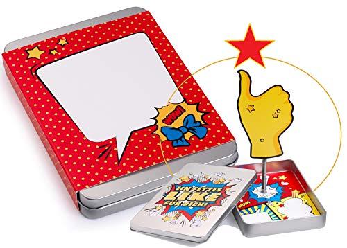 Geldgeschenke Verpackung FETTES LIKE; die Hand richtet sich beim Öffnen mit dem Geschenk auf; Geschenkbox Abitur Dankeschön-Geschenk für Mann und Frau (Für Abitur Das Card-boxen)