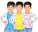 #10: Gkidz Combo Of 3 Graphic Cotton Vest And Shrug
