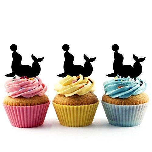 Circus Seal Kuchenaufsätze Hochzeit Geburtsta Acryl Dekor Cupcake Kuchen Topper Stand für Kuchen Party Dekoration 10 Stück