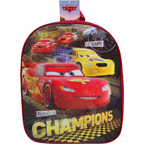 Image of Disney Cars Lightning McQueen Champions School Travel Backpack Bag