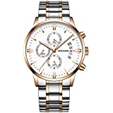 Hot Selling! YANG-YI Luxury Quartz Sport Military Stainless Steel Dial Leather Band Wrist Watch - B07H7LTTRJ
