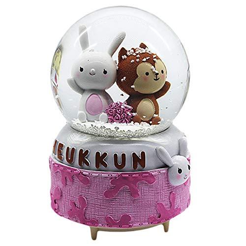 Youjiu Lucky Mopec Decorative Crystal Ball Music Box Music Box Eight Birthday Gift Luminous Swivel, Descendants Of Sun Roses