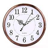 Tosnail 30cm Retro Non Ticking Silent Quartz Decorative Wall Clock